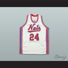 Rick Barry 24 New York Nets White Basketball Jersey