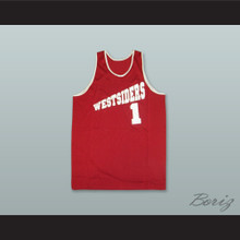 Westsiders 1 Red Rucker Park Basketball Jersey