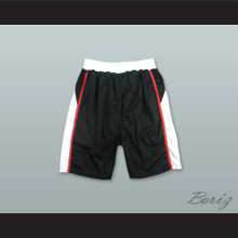 Black White and Red Basketball Shorts