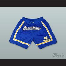 Quincy McCall 22 Crenshaw High School Blue Basketball Shorts