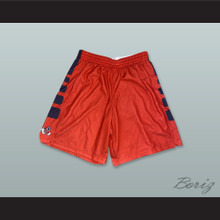 Fresno State Bulldogs Red Basketball Shorts 1
