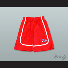 Fresno State Bulldogs Red Basketball Shorts 4