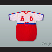 ABC Atlanta Black Crackers 1 Red Blue and White Baseball Jersey