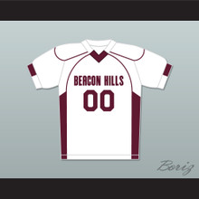 Derek Hale 00 Beacon Hills Cyclones Lacrosse Jersey Teen Wolf White