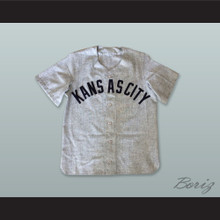 Kansas City Blues 20 Gray Baseball Jersey