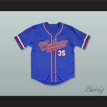 New York Cubans 35 Negro League Blue Baseball Jersey