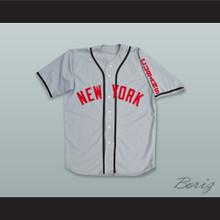 New York Cubans 47 Negro League Gray Baseball Jersey