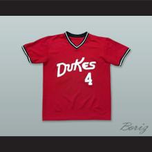 Albuquerque Dukes 4 Red Baseball Jersey