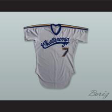 Chattanooga Lookouts 7 Gray Baseball Jersey
