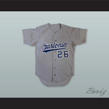Gastonia Rangers 26 Gray Baseball Jersey