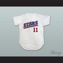 Hilo Stars 11 Hawaii White Baseball Jersey