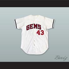 Idaho Falls Gems 43 White Baseball Jersey