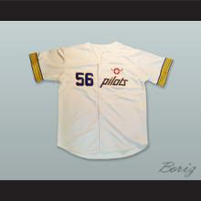 Jim Bouton 56 Seattle Pilots White Baseball Jersey