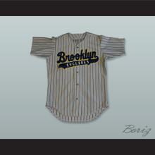 Brooklyn Cyclones Gray Pinstriped Baseball Jersey
