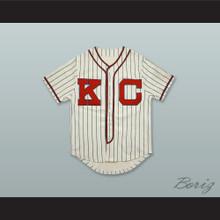Jackie Robinson 5 Kansas City Monarchs Negro League White Pinstriped Baseball Jersey