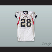 Anthony 28 Quad City Steamwheelers White Football Jersey
