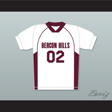 Vernon Boyd 02 Beacon Hills Cyclones Lacrosse Jersey Teen Wolf White Style