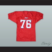 Lucas 76 Los Angeles Avengers Red Football Jersey