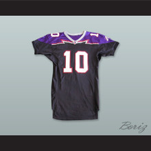 Bell 10 Detroit Fury Black Football Jersey