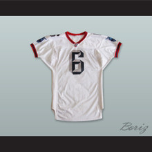 Wilson 6 Buffalo Destroyers White Football Jersey
