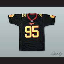 New York Dragons 95 Black Football Jersey