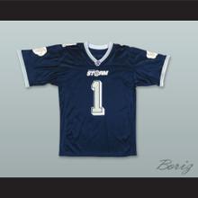 Brett Dietz 1 Tampa Bay Storm Navy Blue Football Jersey