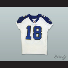 Bush 18 Dallas Desperados White Football Jersey