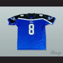 Cooper 8 Georgia Force Blue Football Jersey