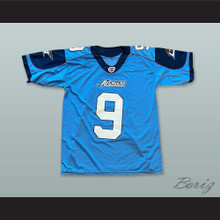 Los Angeles Avengers 9 Light Blue Football Jersey