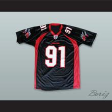 Orlando Predators 91 Black Football Jersey