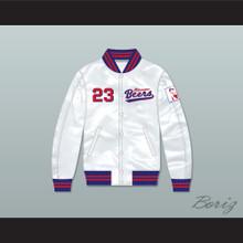 Kenny Scolari 23 Milwaukee Beers BASEketball White Varsity Letterman Satin Bomber Jacket
