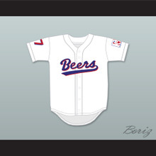 Doug Remer 17 Milwaukee Beers Logo BASEketball White Baseball Jersey