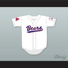 Joe 'Coop' Cooper 44 Milwaukee Beers BASEketball White Baseball Jersey