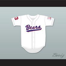Kenny 'Squeak' Scolari 23 Milwaukee Beers BASEketball White Baseball Jersey