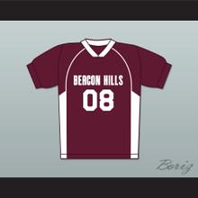 Matt Daehler 08 Beacon Hills Cyclones Lacrosse Jersey Teen Wolf Maroon Style