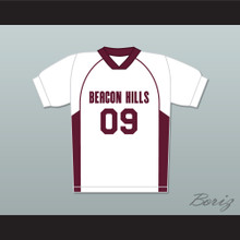 Liam Dunbar 09 Beacon Hills Cyclones Lacrosse Jersey Teen Wolf White Style