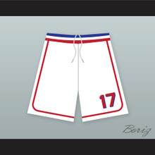 Doug Remer 17 Milwaukee Beers BASEketball White Basketball Shorts 1