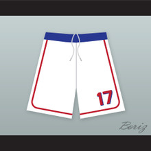 Doug Remer 17 Milwaukee Beers BASEketball White Basketball Shorts 2