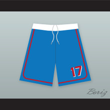 Doug Remer 17 Milwaukee Beers BASEketball Blue Basketball Shorts