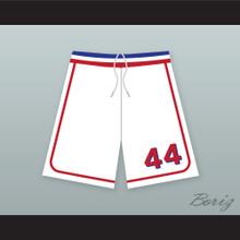 Joe Cooper 44 Milwaukee Beers BASEketball White Basketball Shorts 1