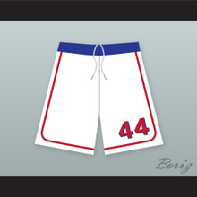 Joe Cooper 44 Milwaukee Beers BASEketball White Basketball Shorts 2