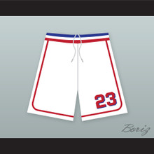 Kenny Scolari 23 Milwaukee Beers BASEketball White Basketball Shorts 1