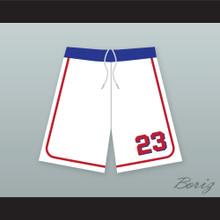 Kenny Scolari 23 Milwaukee Beers BASEketball White Basketball Shorts 2