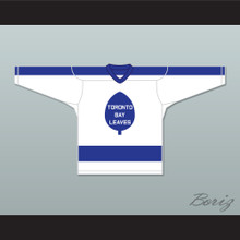 Billy Stemhovilichski 27 Toronto Bay Leaves White Hockey Jersey  SCTV Power Play