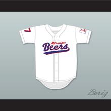 Doug Remer 17 Milwaukee Beers Logo Deluxe BASEketball White Baseball Jersey