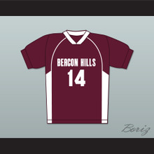 Isaac Lahey 14 Beacon Hills Cyclones Lacrosse Jersey Teen Wolf Maroon Style