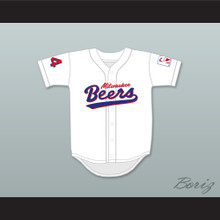 Joe Cooper 44 Milwaukee Beers Logo Deluxe BASEketball White Baseball Jersey