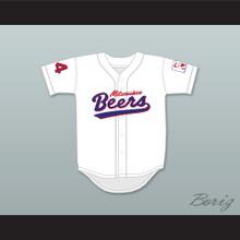 Joe Cooper 44 Milwaukee Beers Deluxe BASEketball White Baseball Jersey