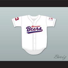 Kenny Scolari 23 Milwaukee Beers Logo Deluxe BASEketball White Baseball Jersey