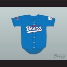 Doug Remer 17 Milwaukee Beers Logo Deluxe BASEketball Blue Baseball Jersey